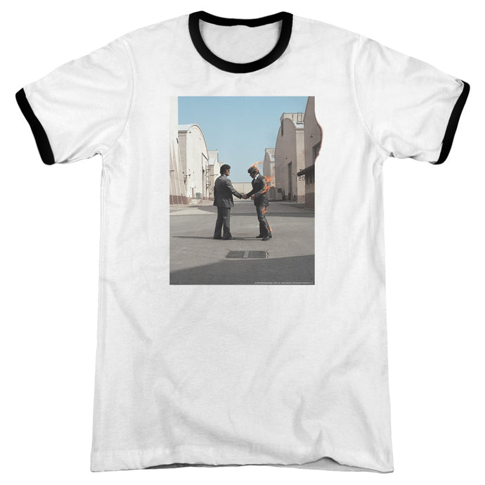 Pink Floyd Wish You Were Here Heather Ringer Mens T Shirt White