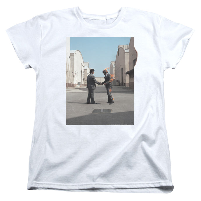 Pink Floyd Wish You Were Here Womens T Shirt White