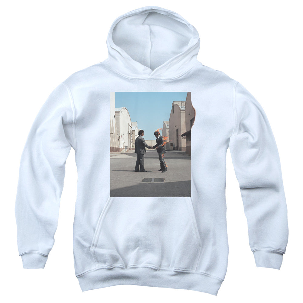 Pink Floyd Wish You Were Here Kids Youth Hoodie White
