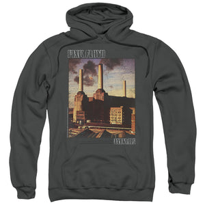 Pink Floyd Faded Animals Mens Hoodie Charcoal