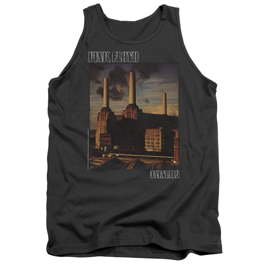 Pink Floyd Faded Animals Mens Tank Top Shirt Charcoal