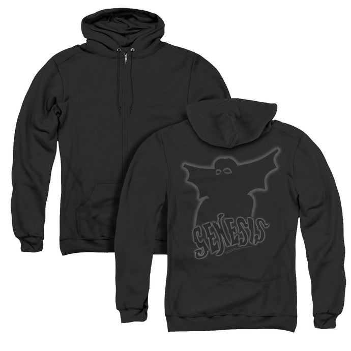 Genesis Watcher Of The Skies Back Print Zipper Mens Hoodie Black
