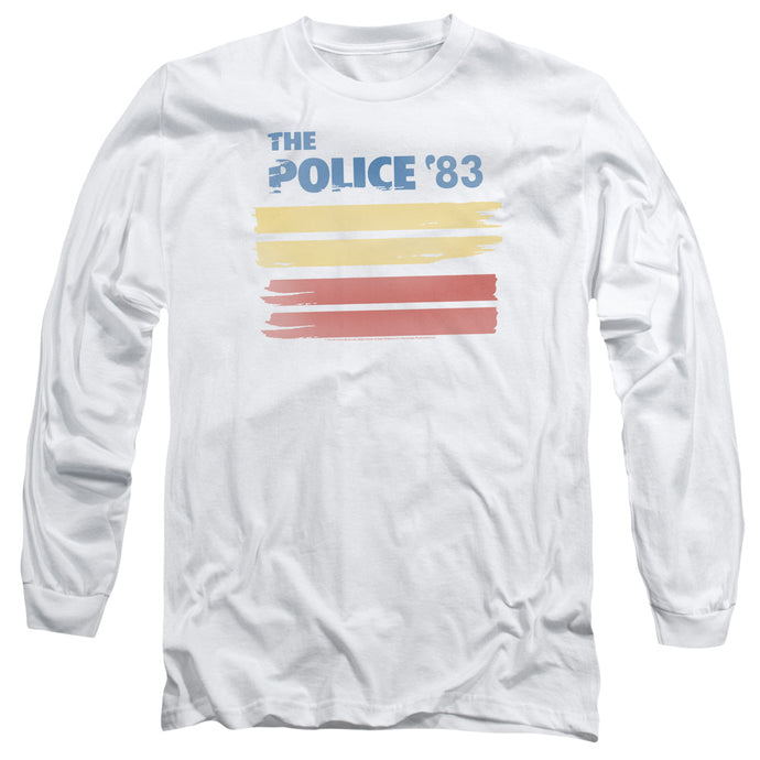 The Police 83 Mens Long Sleeve Shirt White