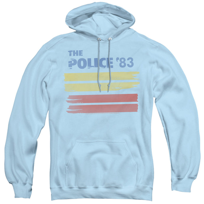 The Police 83 Mens Hoodie Light Blue