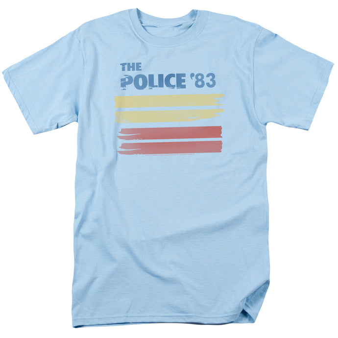 The Police 83 Mens T Shirt Light Blue