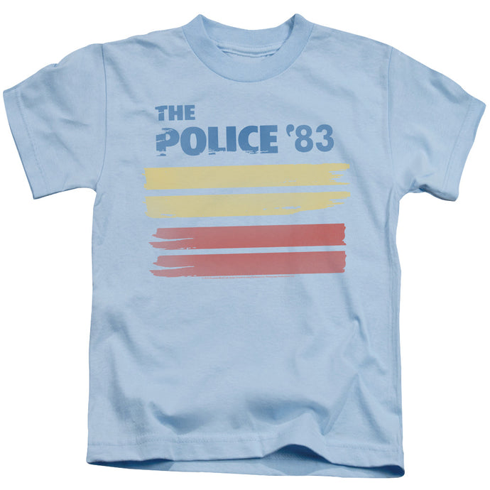 The Police 83 Juvenile Kids Youth T Shirt Light Blue