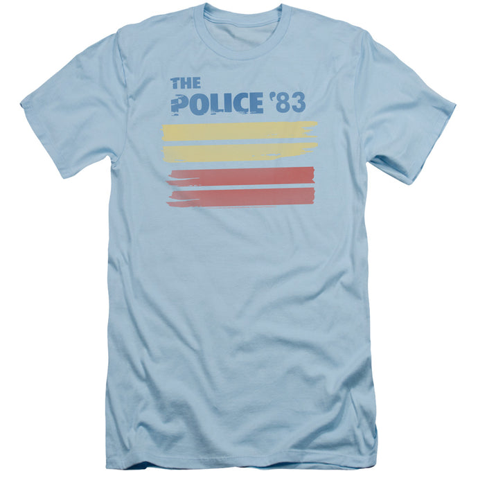 The Police 83 Slim Fit Mens T Shirt Light Blue