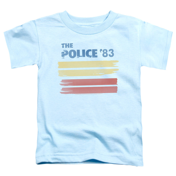 The Police 83 Toddler Kids Youth T Shirt Light Blue