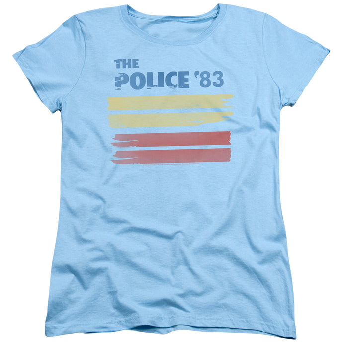 The Police 83 Womens T Shirt Light Blue