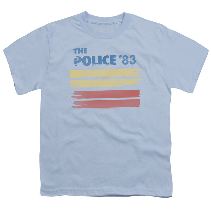The Police 83 Kids Youth T Shirt Light Blue