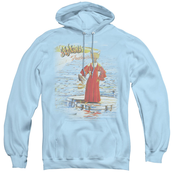 Genesis Large Foxtrot Mens Hoodie Light Blue
