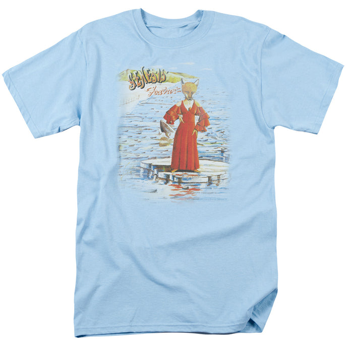 Genesis Large Foxtrot Mens T Shirt Light Blue