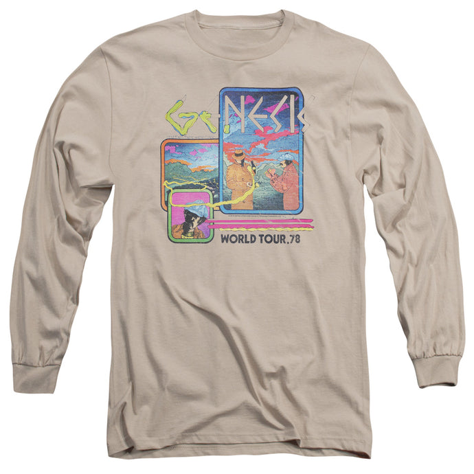Genesis World Tour 78 Mens Long Sleeve Shirt Sand
