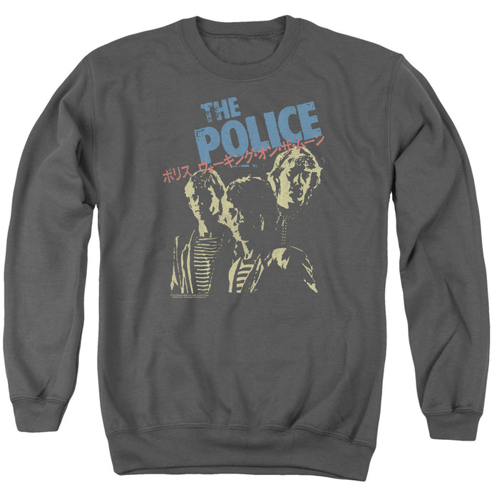 The Police Japanese Poster Mens Crewneck Sweatshirt Charcoal