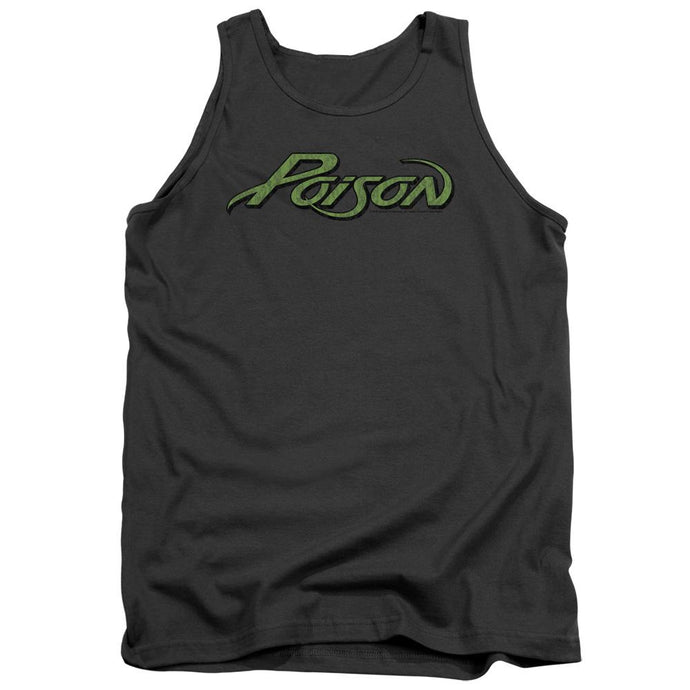Poison Poison Logo Mens Tank Top Shirt Charcoal