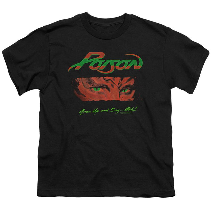 Poison Open Up Kids Youth T Shirt Black