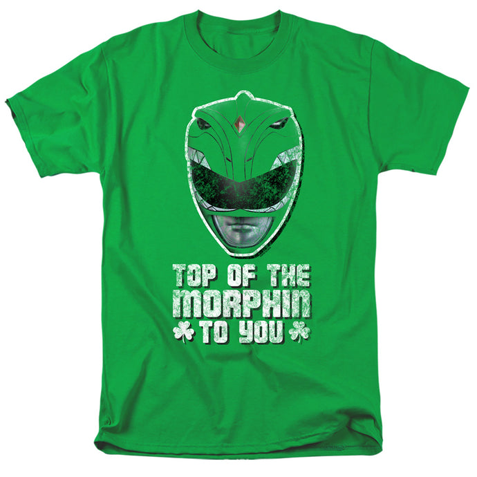 Power Rangers Top Of The Morphin To You Mens T Shirt Kelly Green
