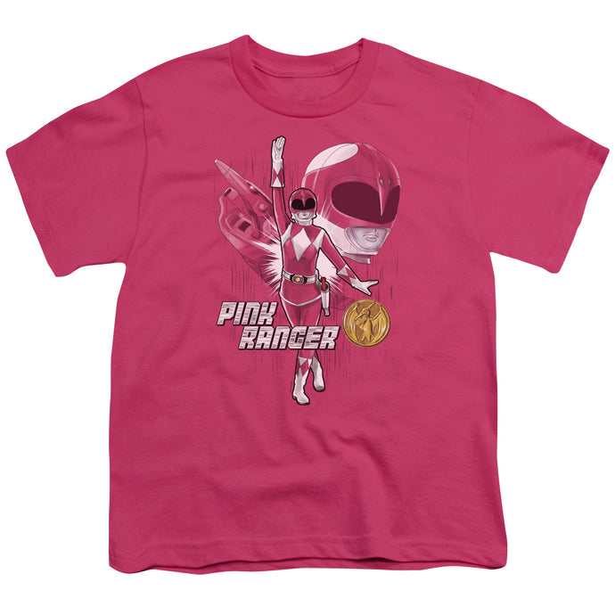 Power Rangers Pink Ranger Kids Youth T Shirt Hot Pink
