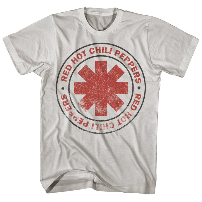 Red Hot Chili Peppers Distressed Logo Mens T Shirt White