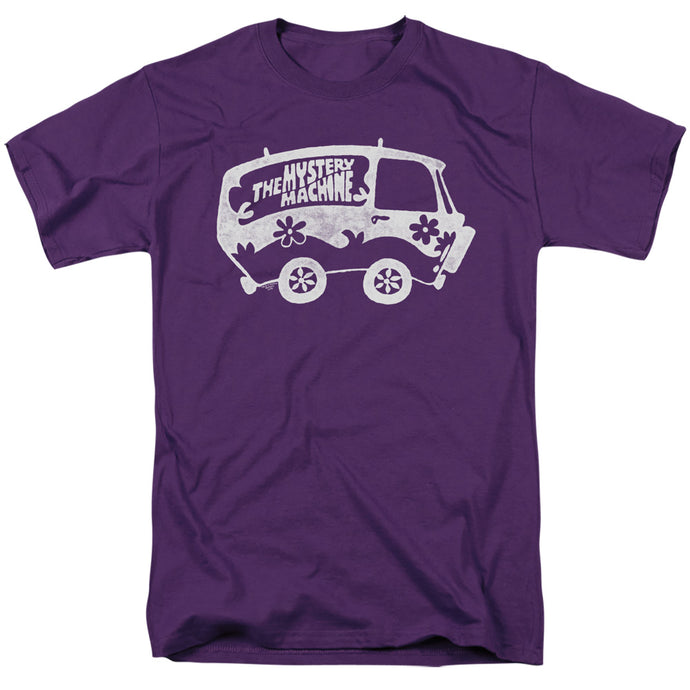 Scooby Doo Mysterious Shadow Mens T Shirt Purple