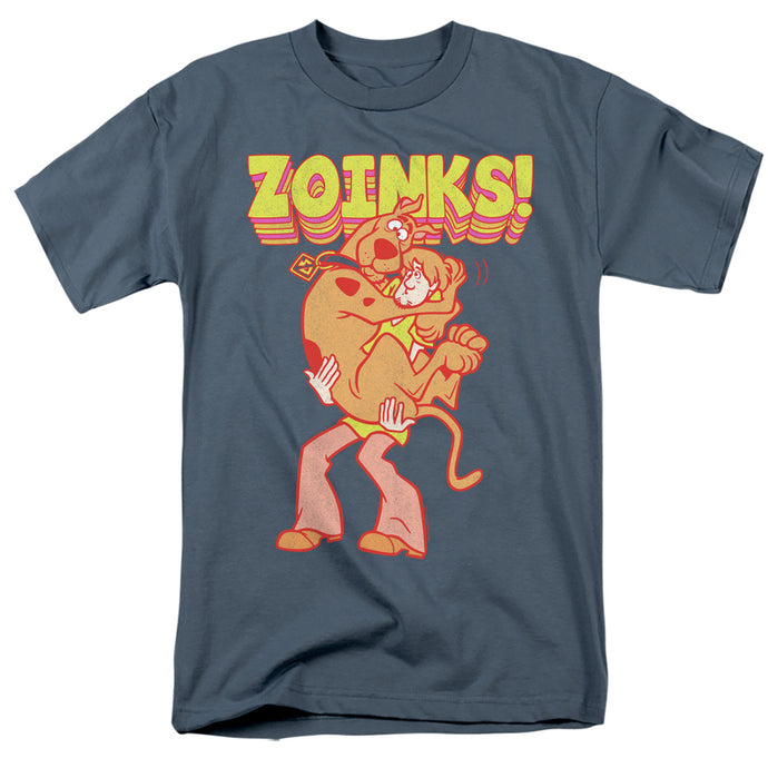 Scooby Doo Zoinks Repeat Mens T Shirt Slate