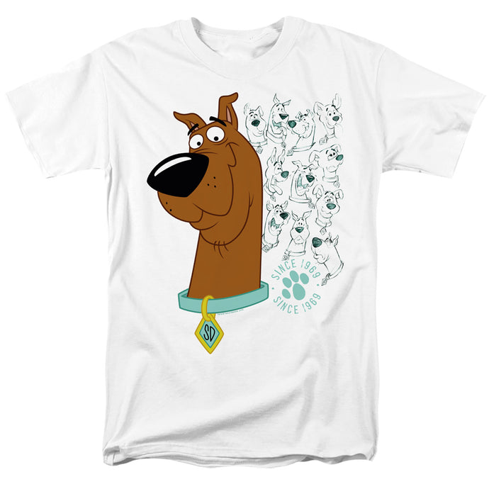 Scooby Doo Evolution Of Scooby Doo Mens T Shirt White