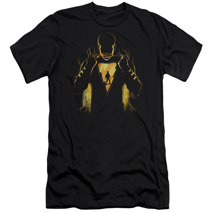 Shazam Movie Whats Inside Slim Fit Mens T Shirt Black