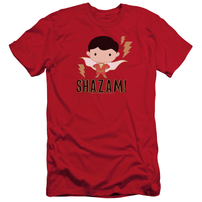 Shazam Movie Shazam Chibi Slim Fit Mens T Shirt Red