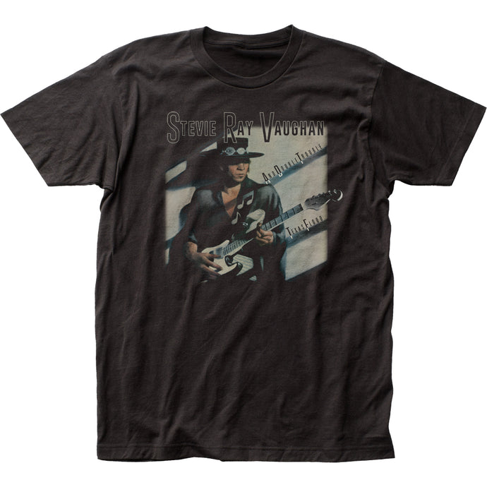 Stevie Ray Vaughan Texas Flood Mens T Shirt Black