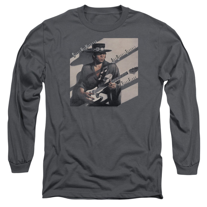 Stevie Ray Vaughan Texas Flood Mens Long Sleeve Shirt Charcoal