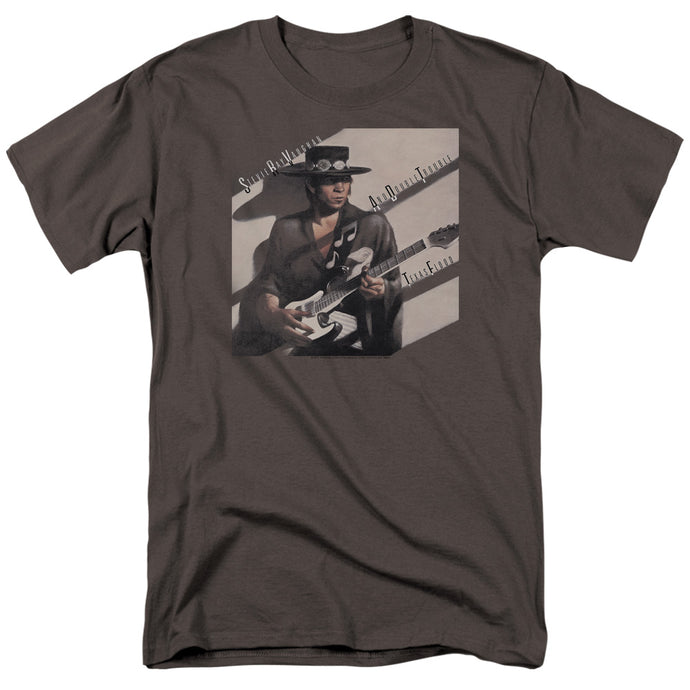 Stevie Ray Vaughan Texas Flood Mens T Shirt Charcoal