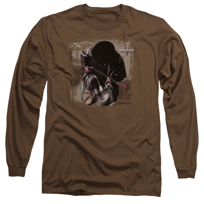 Stevie Ray Vaughan In Step Mens Long Sleeve Shirt Coffee