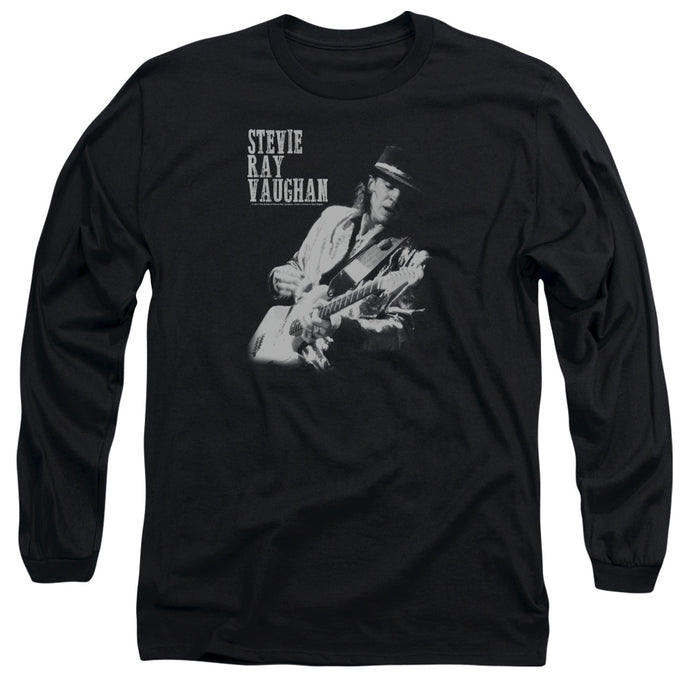 Stevie Ray Vaughan Live Alive Mens Long Sleeve Shirt Black