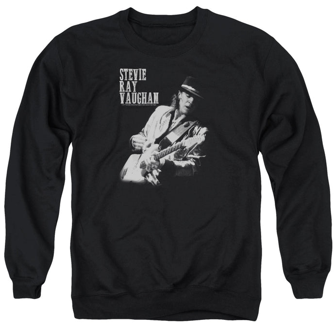 Stevie Ray Vaughan Live Alive Mens Crewneck Sweatshirt Black