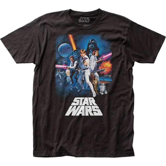 Star Wars New Hope Poster Mens T Shirt Black