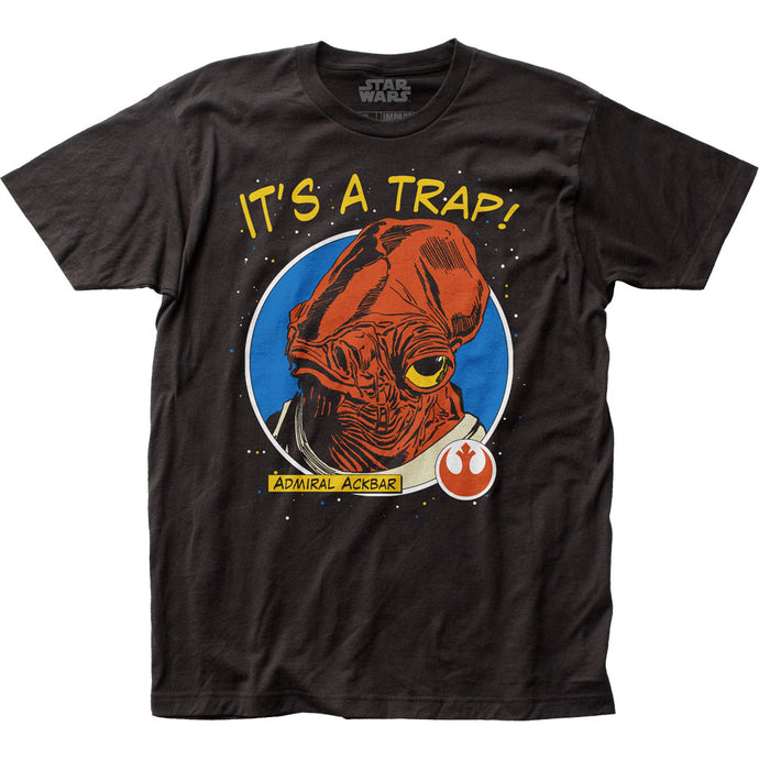 Star Wars It's A Trap! Mens T Shirt Black
