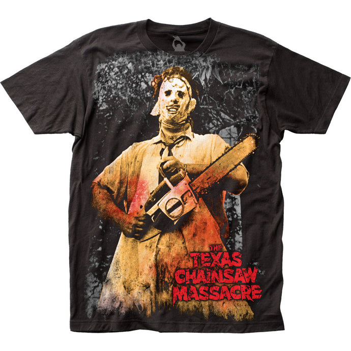 Texas Chainsaw Massacre Full-Color Chainsaw Mens T Shirt Black