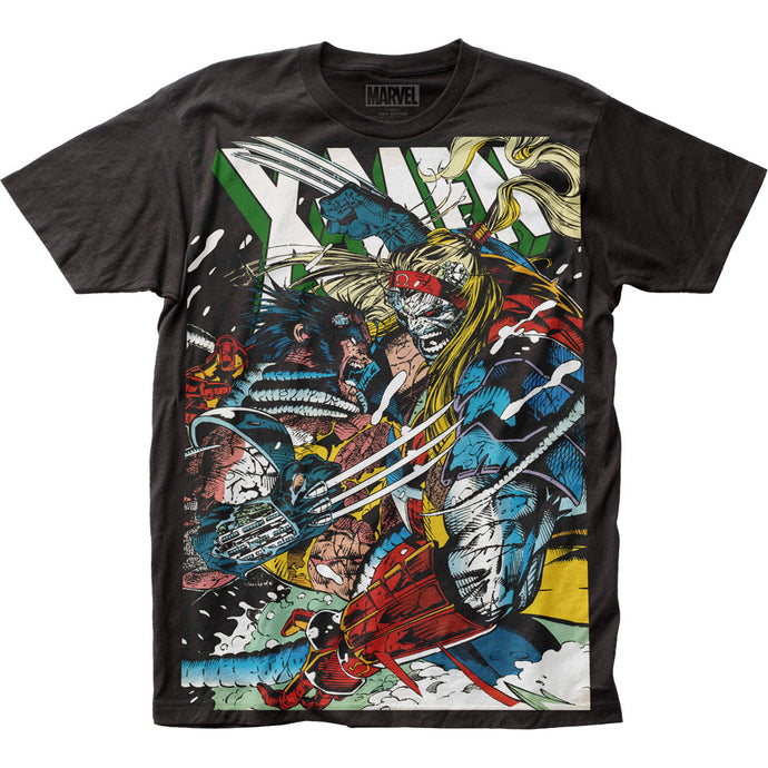X-Men Wolverine vs Omega Mens T Shirt Black