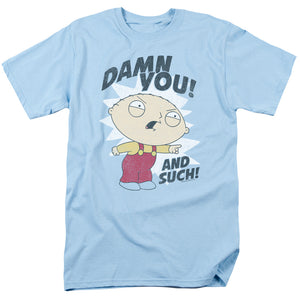 Family Guy And Such Mens T Shirt Light Blue