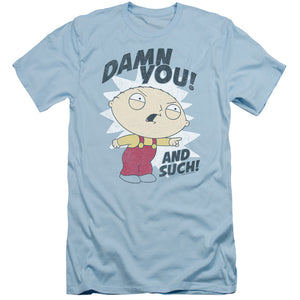 Family Guy And Such Slim Fit Mens T Shirt Light Blue