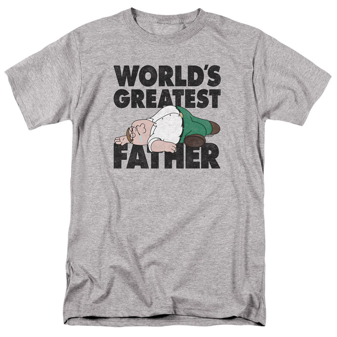 Family Guy The Greatest Father Mens T Shirt Athletic Heather