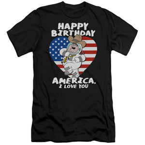 Family Guy American Love Slim Fit Mens T Shirt Black