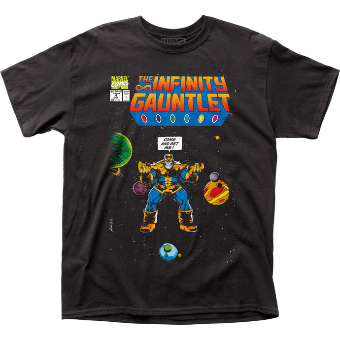Thanos Come and Get Me Mens T Shirt Black