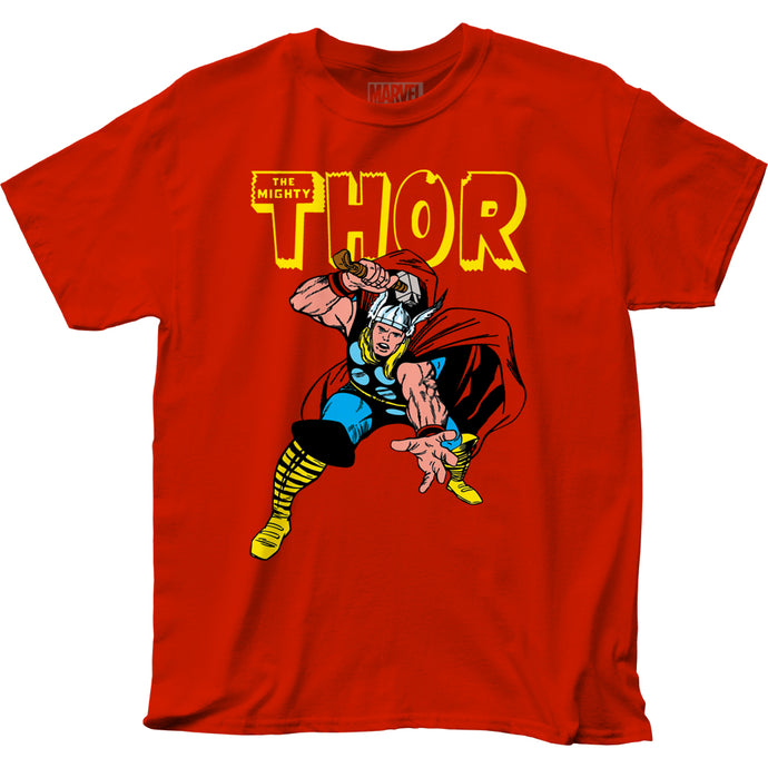 Thor War Hammer Mens T Shirt Red
