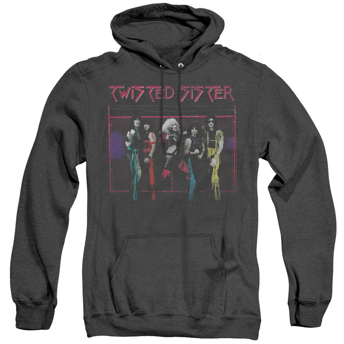 Twisted Sister Neon Gate Heather Mens Hoodie Black