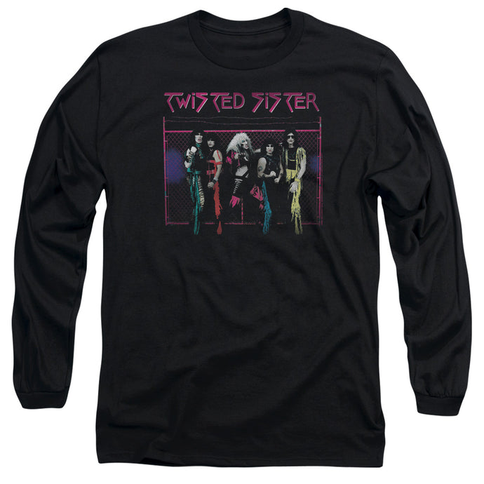 Twisted Sister Neon Gate Mens Long Sleeve Shirt Black