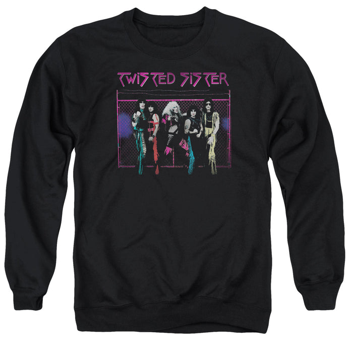 Twisted Sister Neon Gate Mens Crewneck Sweatshirt Black