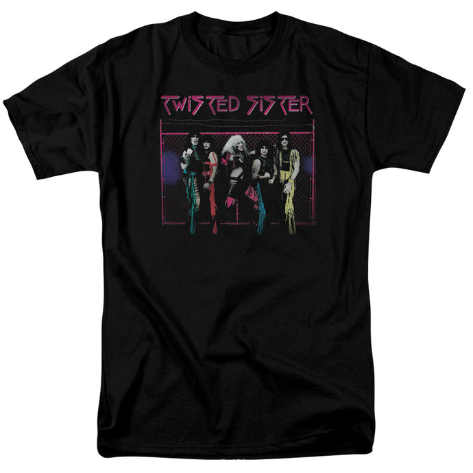 Twisted Sister Neon Gate Mens T Shirt Black