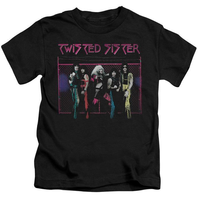 Twisted Sister Neon Gate Juvenile Kids Youth T Shirt Black