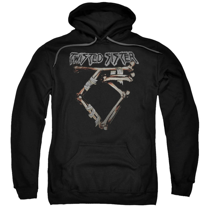 Twisted Sister Bone Logo Mens Hoodie Black